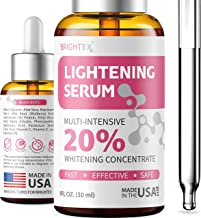 Brightening Serum - Made in USA - Dark Spot Remover Corrector for Face - Niacinamide, Hyaluronic Acid & Alpha Arbutin Serum - Better than Hydroquinone for Hyperpigmentation, Melasma & Sun Spots - 1oz