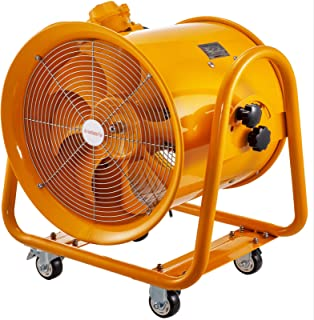 Mophorn ATEX Portable Ventilator Fan 18 Inch(450MM) 700W Explosion Proof Extractor or Ventilator 220V 50HZ Speed 1400 RPM for Extraction and Ventilation in Potentially Explosive Environments