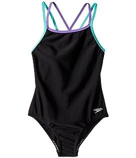 Crossback One-Piece Swimsuit (Big Kids)