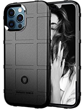 Compatible for iPhone 12 Pro Max Rugged Case Ultra Thin Cases Slim Rubber Gel Soft TPU Thick Shield Solid Armor Protective Cover Silicone Phone Case for iPhone 12 Pro Max Case for Man(6.7 inchs)