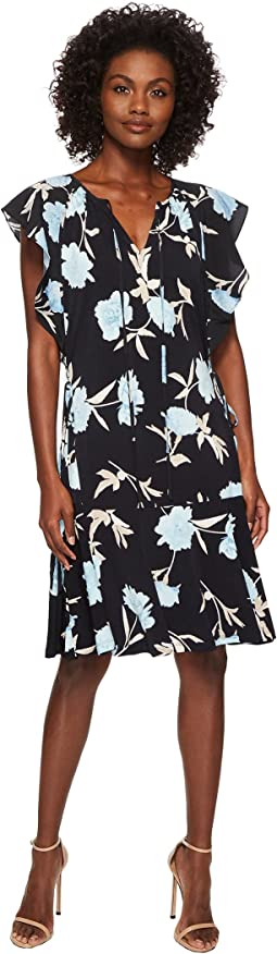 Ellen Tracy - Flouncy Sleeve Dress