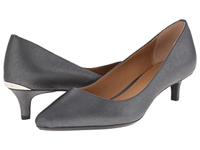 Calvin Klein Gabrianna Pump (Steel Saffiano Leather) Women