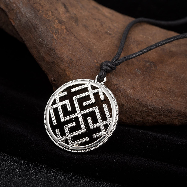 fishhook Wicca Religious Ancient Norse Viking Slavic God Symbol of Svarozhich Amulet Rune Mythology Necklace