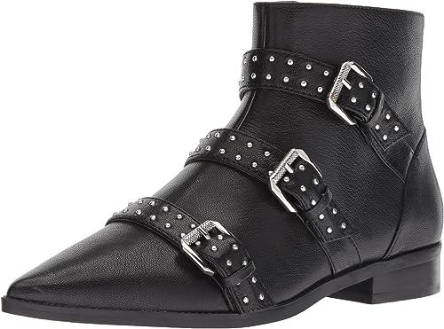 Nine West Wohommes Seraphim Leather Ankle démarrage, noir, 8.5 M US