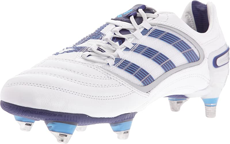 adidas Predator_X Sg Cl - Chaussures Football terrain gras Homme - Blanc/Bleu/Cyan