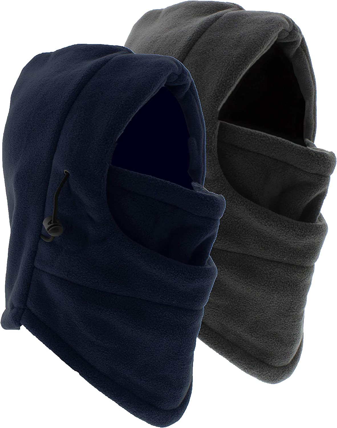 Ultra Dry Men's/Women's Thermal Fleece Balaclava, Winter and Cold Weather Full Face Mask, 2 Masks