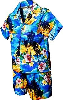 Pacific Legend Boys Brilliant Hawaiian Island Sunset 2pc Set