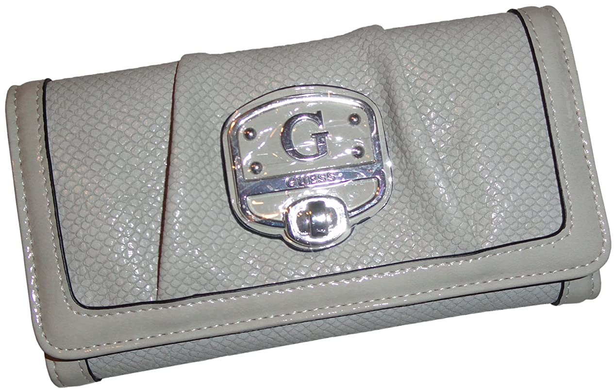 女優遺棄された光のレディースGuess財布Parisianガール署名ロゴチョーク