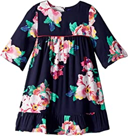 Printed Peplum Frill Dress (Toddler/Little Kids)
