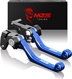 MZS Pivot Levers Brake Clutch CNC for Yamaha YZ125 YZ250 2015-2018/ YZ250F 2009-2018/ YZ250X 2016-2018 Blue