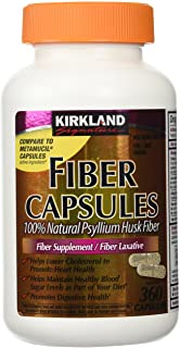 Fiber Capsules Kirkland Therapy for Regularity/Fiber Supplement, 360 capsules - Compare to the Active Ingredient in Metamu...