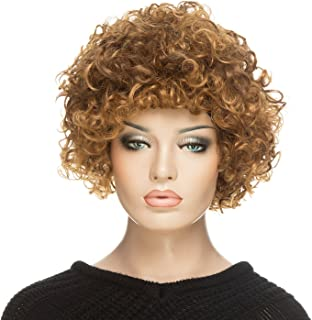 Afro Wig, YOPO Short Curly Brown Wigs for Women, Cosplay Wig(Brown)