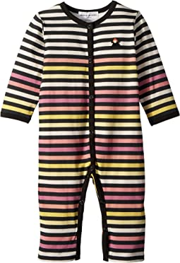 Sonia Rykiel Kids - Axelle Striped Romper (Infant)