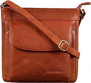 STILORD 'Melina' Vintage Damen Ledertasche Kleine Umhängetasche für Frauen Elegante Schultertasche Handtasche zum Ausgehen...