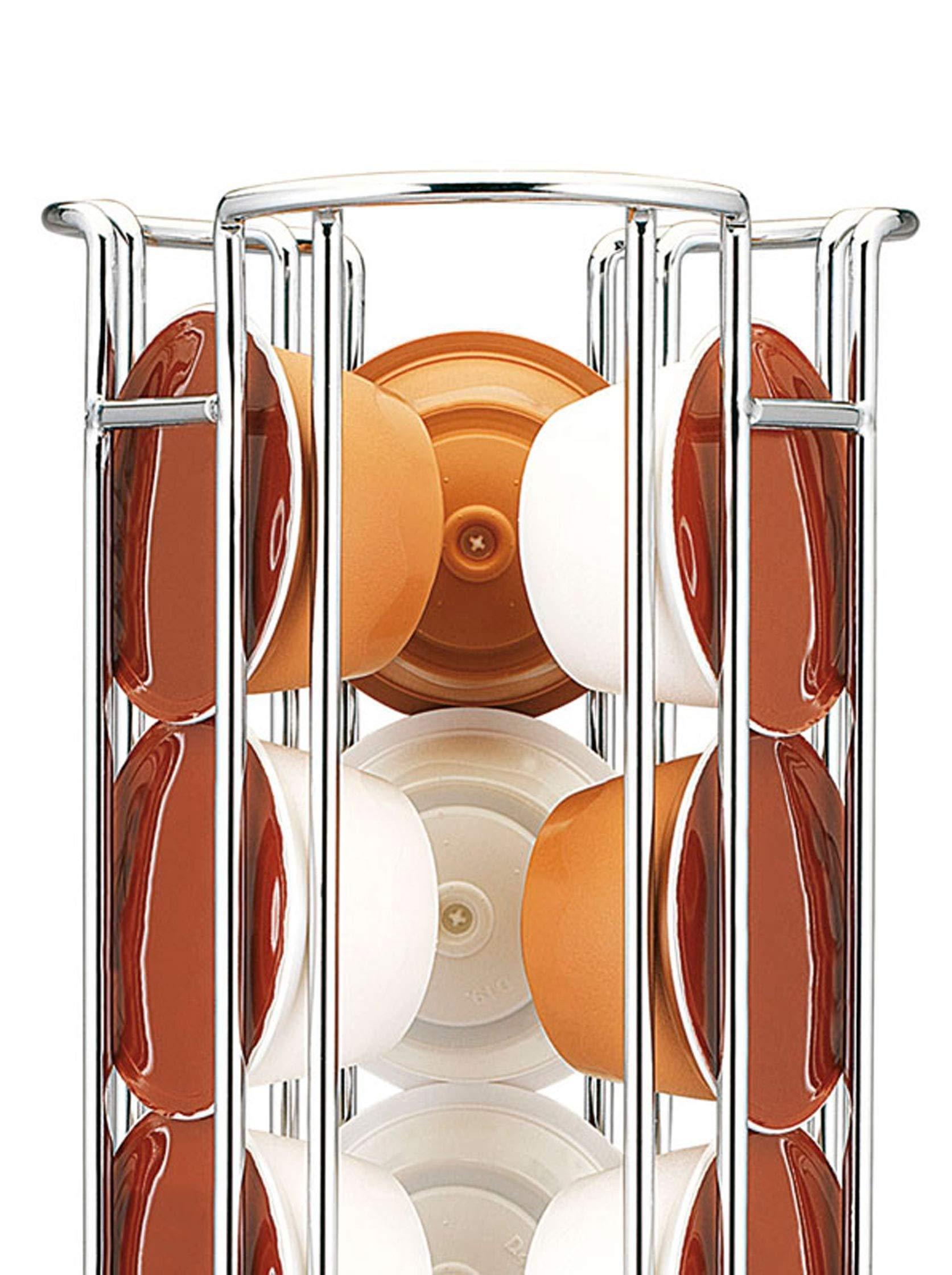 Fackelmann Porta Cápsulas Dolce Gusto, Acero Cromado, Ø125x325mm ...