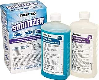 Fresh Water Tank Sanitizer Detergent and Sanitizer Treatment, 2 x 24 oz bottles - Thetford 36662