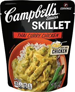 Campbell's Skillet Sauces, Thai Curry Chicken, 11 oz. (Pack of 6)