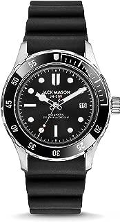 Jack Mason Diver Watch for Men (Black Automatic w/Black Rubber Strap)