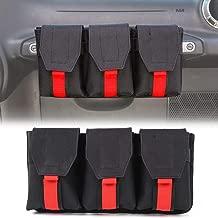 Auto Co-Pilot Center Console Storage Organizer, Passenger Seat Grab Handle Storage Bag Phone Holder for Jeep Wrangler CJ YJ TJ LJ JK JKU JL JLU JT 2 Door & 4 Door