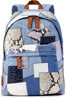 Women's Denim Patchwork Biker Backpack, Denim Multi, One Size