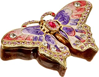 Sparkling Collectibles Large Vintage style Butterfly Jewelry Box set with Swarovski Crystals, Tattoo 4