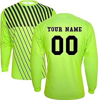 TopTie Langarm Fußball Torwart-Trikot personalisiert mit Namen und Nummer