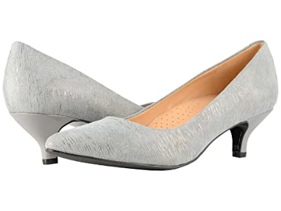 Trotters Kiera (Grey/Silver Metallic Printed Leather) Women