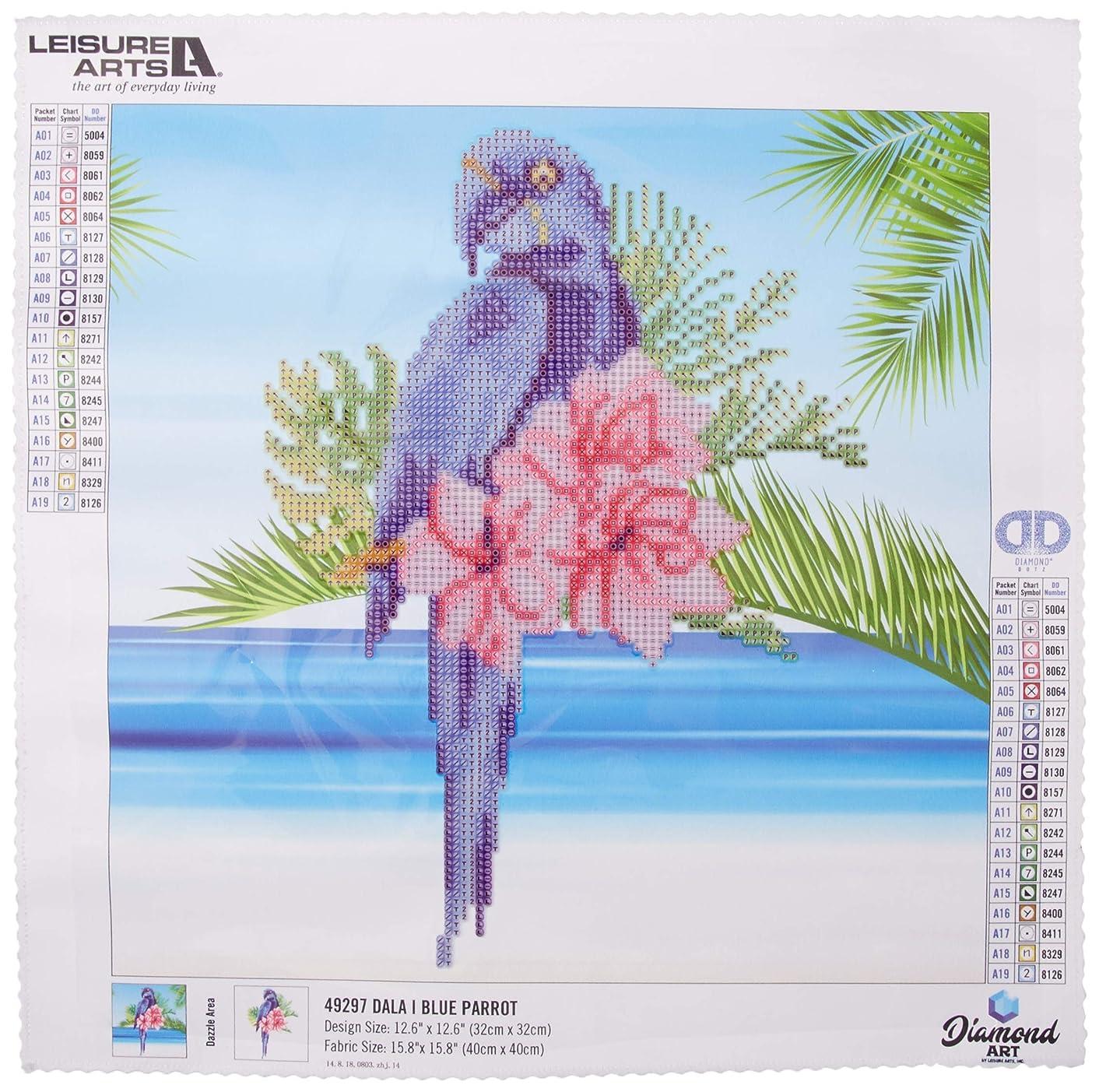 Leisure Arts-Diamond Art by Leisure Arts - Powered by Diamond Dotz - 5D DIY Diamond Painting Kit - Blue Parrot Design
