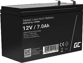 Green Cell Recambio de Batería Gel AGM 12V 7Ah Rechargeable Pila Sellada de Plomo ácido batería sin Mantenimiento Batería de Reemplazo para UPS/SAI Scooter Quad Sistemas de Alarma