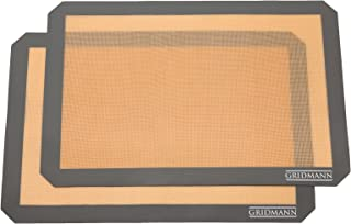 GRIDMANN Pro Silicone Baking Mat - Set of 2 Non-Stick Half Sheet (16-1/2