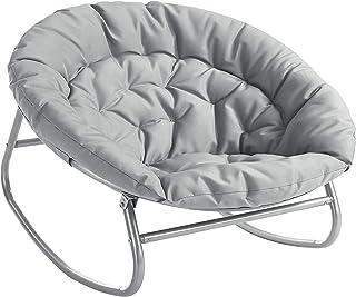 Urban Shop Rocking Saucer Chair, Grey