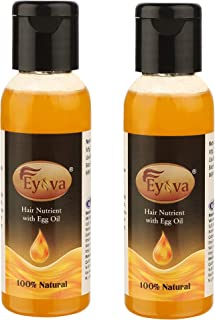 Eyova Egg Oil For Hair Growth For Men and Women- Cold Pressed Natural Anti Hair Fall Hair Oil (Pack of 2)