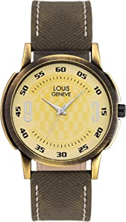 LOUIS GENEVE Fashionable Analogue Yellow Dial Men's Watch