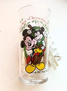 1982 Coke Mickeys Christmas Carol, Cratchit and Tiny Tim Glass Tumbler
