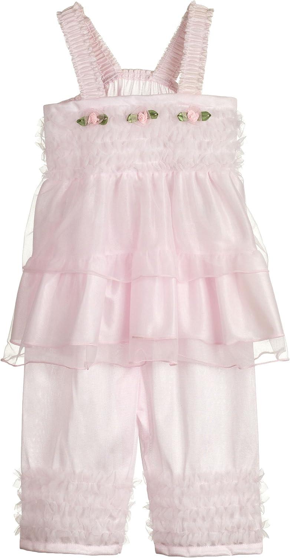 Laura Dare Baby Girls Solid Colors Bo Peep Style PJ Set w Scrunc
