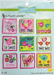 Babyville Boutique 35274 Labels, Little Birds & Flowers (9-Count)