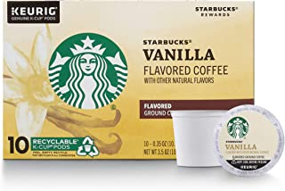 Starbucks Flavored K-Cup Coffee Pods, Vanilla for Keurig Brewers, 10 Count (Pack of 1)