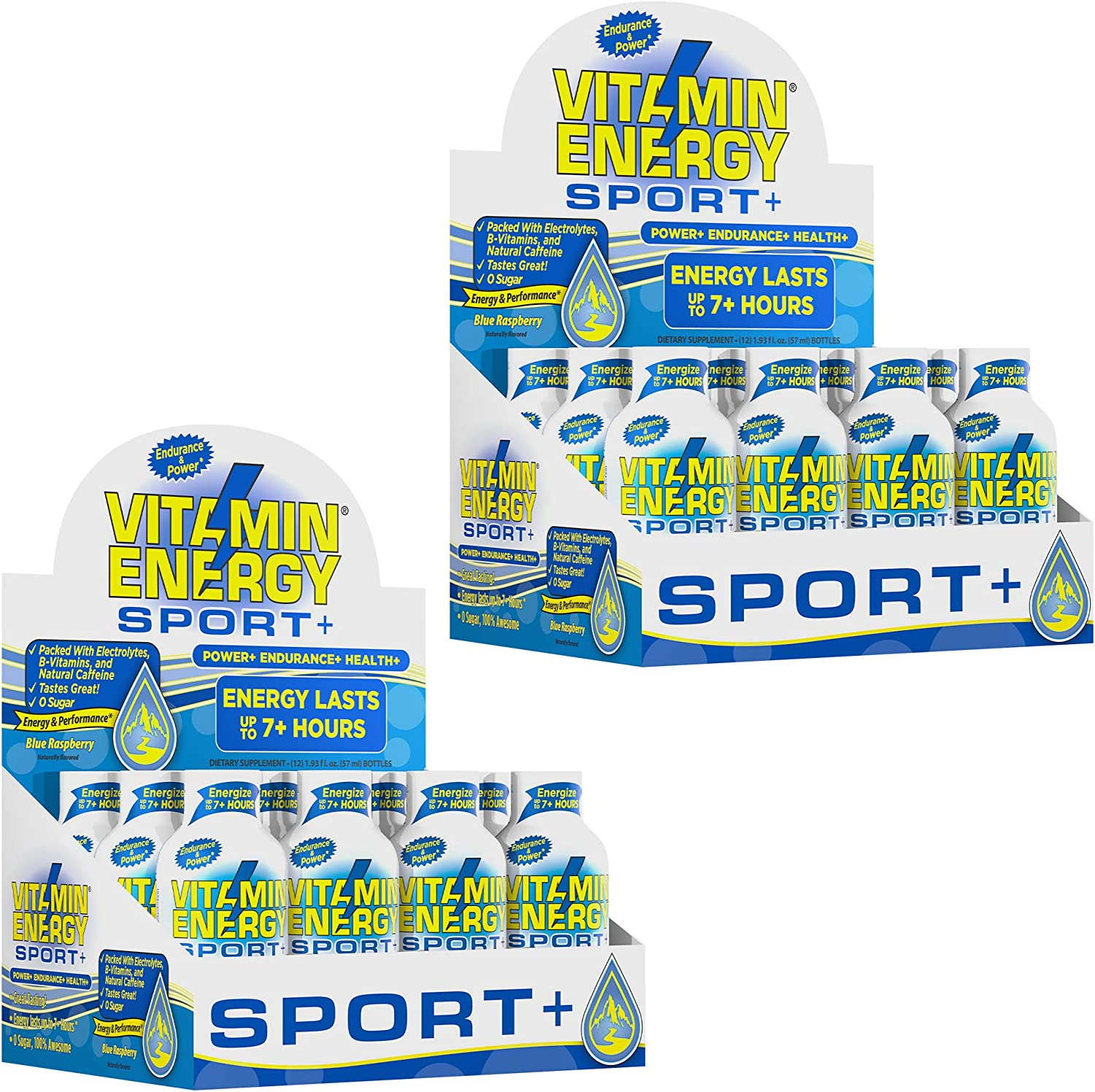 24 Pack VitaminEnergy™ New York Mall Max 88% OFF Sport+ Energy Shots up 7+ Lasts Hou to