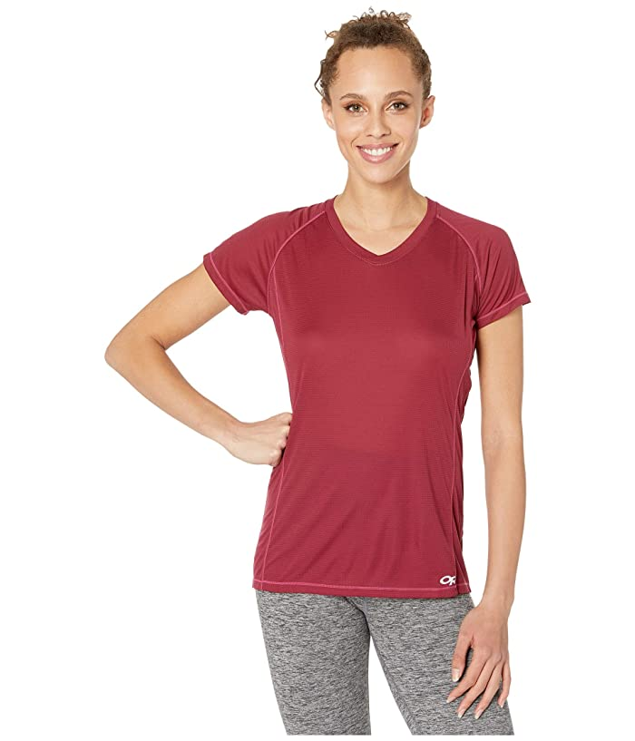 Outdoor Research Echo Short Sleeve Tee (Garnet) Women