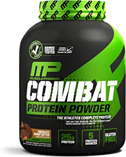 Muscle Pharm Combat Protein Powder, Essential Whey Protein Powder, Isolate Whey Protein, Casein and Egg Protein with BCAAs...