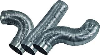 Deflecto Semi Rigid Aluminum Duct with Connectors, 4