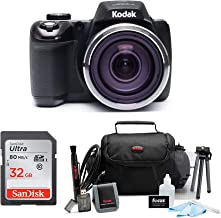Kodak Pixpro AZ527 20MP, 52x Zoom, Wi-Fi Digital Camera (Black) Bundle Includes 32GB Sandisk SD Card, Carry Bag, and Accessories