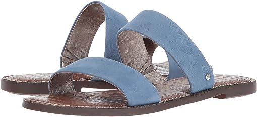 Denim Blue Suede Leather