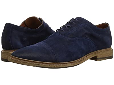 Frye Paul Bal Oxford (Navy Washed Waxed Suede) Men