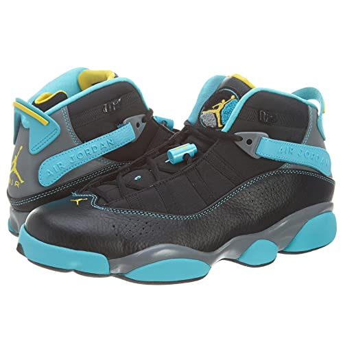 39d56fdb4b8181 NIKE Jordan 6 Rings Men Sneakers Black Cool Grey Gamma Blue Varsity Maize