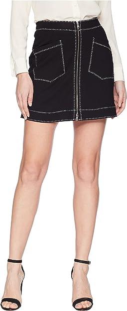 Contrast Line Skirt