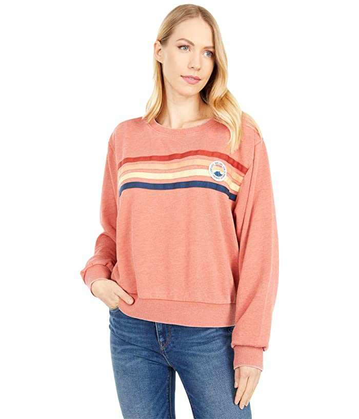 Vintage Sweaters, Retro Sweaters & Cardigan Rip Curl Ultimate Wave Crew Rhubarb Womens Clothing $54.90 AT vintagedancer.com