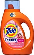 Tide Plus A Touch of Downy Liquid Laundry Detergent, April Fresh, 46 fl oz, 29 loads