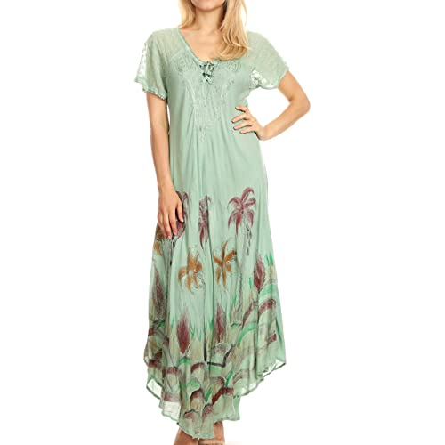 1b3950b27f Sakkas Irem Women Everyday Caftan Long Dress Kaftan with Corset and Lace  Sleeves