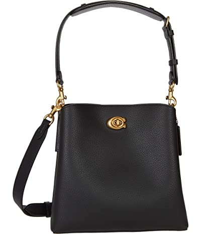 COACH Polished Pebble Leather Willow Bucket 24